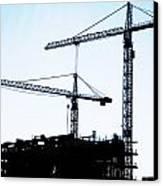 Construction Cranes Canvas Print by Antony McAulay