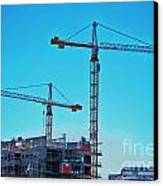 construction cranes HDR Canvas Print by Antony McAulay