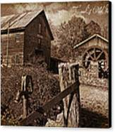 Cook's Old Mill 1857 Canvas Print by Regina  Williams