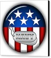 Cool Navy Insignia Canvas Print by Pamela Johnson