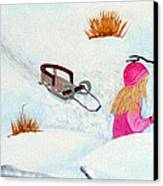 Cool  Winter Friend - Snowman - Fun Canvas Print by Barbara Griffin