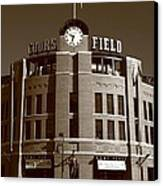 Coors Field - Colorado Rockies 20 Canvas Print by Frank Romeo