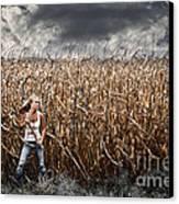Corn Field Horror Canvas Print by Jt PhotoDesign