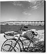 Coronado Bridge Bike Canvas Print by Peter Tellone