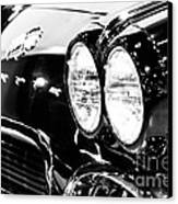 Corvette Picture - Black And White C1 First Generation Canvas Print by Paul Velgos