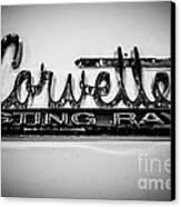 Corvette Sting Ray Emblem Canvas Print by Paul Velgos