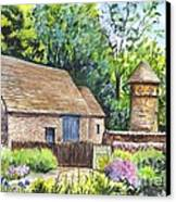 Cotswold Barn Canvas Print by Carol Wisniewski