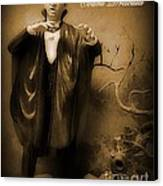 Count Dracula In Sepia Canvas Print by John Malone