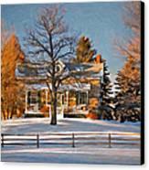 Country Home Oil Canvas Print by Steve Harrington
