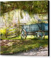 Country - The Old Wagon Out Back  Canvas Print by Mike Savad