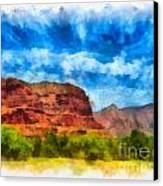 Courthouse Butte Sedona Arizona Canvas Print by Amy Cicconi