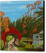 Covered Bridge Canvas Print by Anthony Dunphy