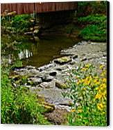 Covered Bridge Canvas Print by Frozen in Time Fine Art Photography
