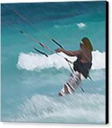 Cozumel Kiting Canvas Print by Carol McCutcheon