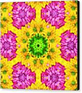 Crazy Daises - Spring Flowers - Bouquet - Gerber Daisy Wanna Be - Kaleidoscope 1 Canvas Print by Andee Design