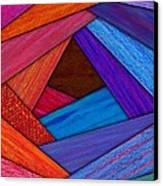 Crazy Log Cabin Card Canvas Print by David K Small
