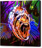 Creatures Of The Deep - Fear No Fish 5d24799 V2 Canvas Print by Wingsdomain Art and Photography