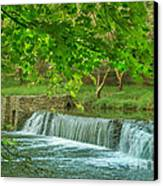 creek at Valley Forge Canvas Print by Rima Biswas