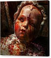Creepy - Doll - It's Best To Let Them Sleep  Canvas Print by Mike Savad