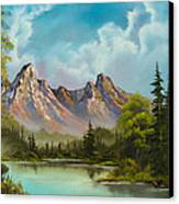 Crimson Mountains Canvas Print by C Steele