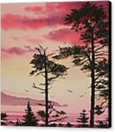 Crimson Sunset Splendor Canvas Print by James Williamson