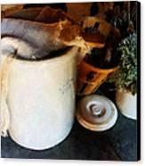 Crock And Basket Canvas Print by Susan Savad