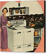 Crosleys  1950s Uk Cookers Kitchens Canvas Print by The Advertising Archives