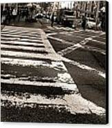 Crosswalk In New York City Canvas Print by Dan Sproul