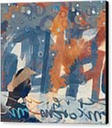 Crow Snow Canvas Print by Carol Leigh