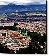Cuenca And Turi Panorama Canvas Print by Al Bourassa