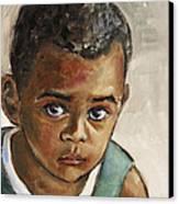 Curious Little Boy Canvas Print by Xueling Zou