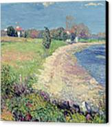 Curving Beach Canvas Print by William James Glackens