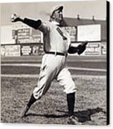 Cy Young - American League Pitching Superstar - 1908 Canvas Print by Daniel Hagerman