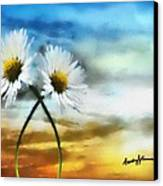Daisies In Love Canvas Print by Anthony Caruso