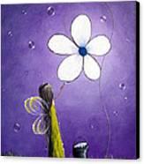 Daisy Fairy By Shawna Erback Canvas Print by Shawna Erback