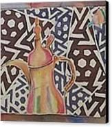 Dallah And Arabesque Motif Canvas Print by Beena Samuel