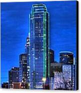 Dallas Skyline Hd Canvas Print by Jonathan Davison