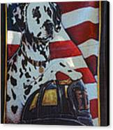 Dalmatian The Firefighters Mascot Canvas Print by Paul Ward