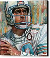 Dan Marino Canvas Print by Michael  Pattison