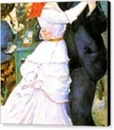 Dance At Bougival Canvas Print by Pierre Auguste Renoir