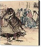 Dance Hall With Dancing Women Canvas Print by Vincent Van Gogh
