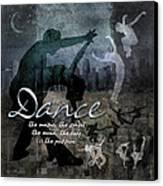 Dance Neutral Colors Canvas Print by Evie Cook