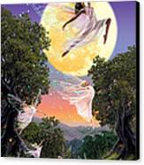 Dance Of The Moon Fairy Canvas Print by Garry Walton