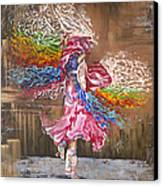 Dance Through The Color Of Life Canvas Print by Karina Llergo