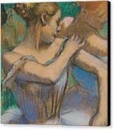 Dancer Adjusting Her Shoulder Canvas Print by Edgar Degas