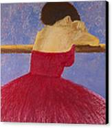 Dancer In The Red Dress Canvas Print by David Patterson