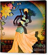 Dancer Of The Balcony Canvas Print by Bedros Awak