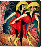 Dancers In Red Canvas Print by Ernst Ludwig Kirchner