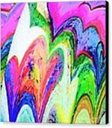 Dancing Hearts  Canvas Print by Annie Zeno