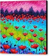Dancing Poppies Canvas Print by John  Nolan